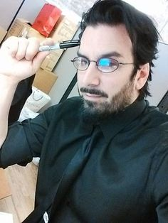 A sexy man, singer, toymaker, comic maker, writer, musician, and absolutely lovely person. And plus, he wear glasses. My Goth!! <3