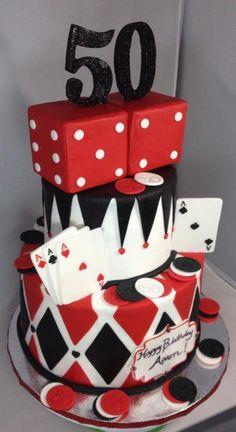 Casino 50th Birthday cake! - Cake by Cakes by Maray