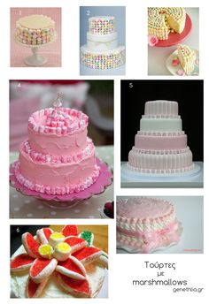 Easy cake decoration with marshmallows! 7 ideas for inspiration!