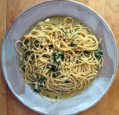 Pasta with Garlic & Olive Oil
