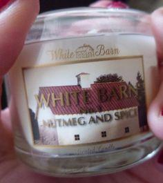White Barn Nutmeg & Spice mini candle #bloggervoxbox