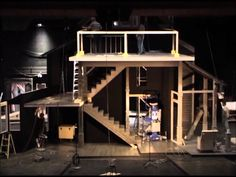 """partially constructed """"august osage county"""" set. Am I into the focus on fixed levels?"""