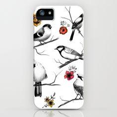 BIRDS & FLOWERS iPhone Case