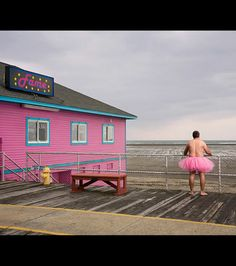bob carey , The Tutu Project. Bob Carey photographed himself in a pink tutu many places in support of his wife who has cancer. Tutu Rose, Pink Tutu, Pink Dress, Breast Cancer Survivor, Breast Cancer Awareness, Male Poses, Good Cause, Everything Pink, How To Raise Money