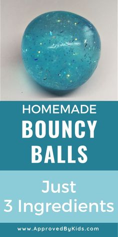 Homemade Bouncy Balls - How to make your own DIY Bouncy Balls from water, glue and borax! So easy and fun. Your kids will love it!