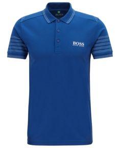 HUGO BOSS BOSS MEN'S SLIM FIT POLO. #hugoboss #cloth Burberry Men, Gucci Men, Hermes Men, Polo Blue, Men's Polo, Slim Fit Polo, Camisa Polo, Hugo Boss Man, Versace Men