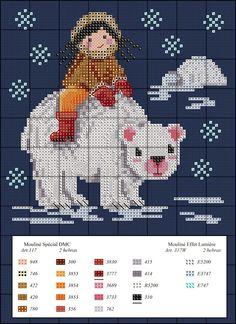 Diagramas de punto de cruz de regalo: Enero