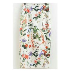 -Midi Floral Pencil Skirt-