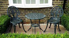 87 inspiring backyard patio furniture decor for your backyard patio furniture of 20 Cast Iron Garden Furniture, Small Patio Furniture, Contemporary Outdoor Furniture, Outdoor Garden Furniture, Outdoor Decor, Iron Furniture, Furniture Ideas, Outdoor Patios, Outdoor Fun