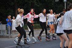 The traditional blouse is good for exercise too! Club Kangoo by Diana Stirbu