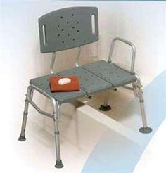 AliMed Heavy Duty Transfer Bench Heavy Duty Transfer Bench Durable plastic bench and backrest.