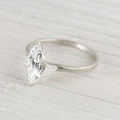 1.23 Carat Marquise Cut Vintage Engagement Ring | Erstwhile Jewelry Co.