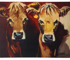 Cow Canvas | Cattle Paintings And Prints | Animal Canvas Wall Art
