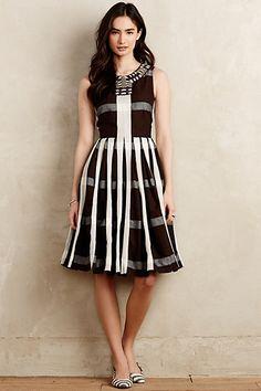 Pleated Plaid Dress #anthropologie