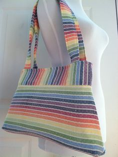 95fac7f42d9 Items similar to Woven Wrap Conversion Purse Shoulder Bag Tote- Girasol  Avalon Rainbow on Etsy