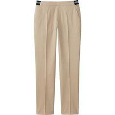 Women's Satin Ankle Pants, BEIGE