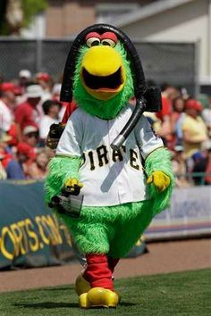The Pittsburgh Pirates mascot Pirate Parrot - hes adorable