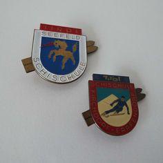 Vintage Austrian Tirol Skiing & Snowboarding Lapel Pin Badge by VintageBlackCatz on Etsy