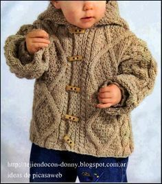Ravelry: Deluxe Baby (Jacket) pattern by Jarol Knitted Baby Cardigan, Knit Baby Sweaters, Baby Boy Knitting, Knitting For Kids, Baby Knits, Rowan Knitting, Knitting Scarves, Aran Knitting Patterns, Knit Patterns