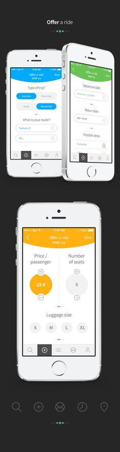 Blablacar App Concept by Angelique Calmon, via Behance