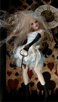 Tick Tock - Nicole West Fantasy Art - Alice themed Doll