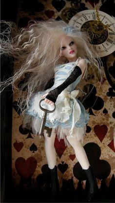 Tick Tock - Nicole West Fantasy Art - Alice themed Doll