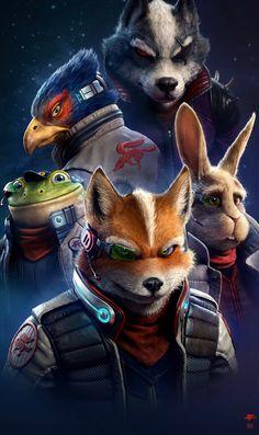 Star Fox Art by Raf Grassetti - Super Smash Bros Characters, Super Smash Bros Brawl, Video Game Characters, Fictional Characters, Star Fox, Cute Cartoon Wallpapers, Animes Wallpapers, Fox Mccloud, Fox Character