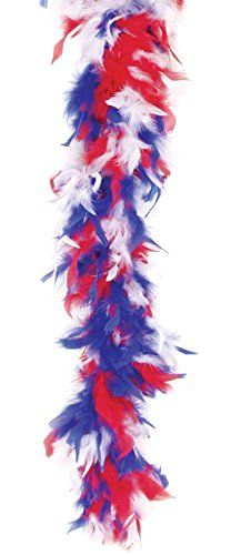 "Loftus International Loftus Patriotic Fluffy Feather Extra Long Boa, Red White Blue, One Size (72"") Novelty Item 13.99"