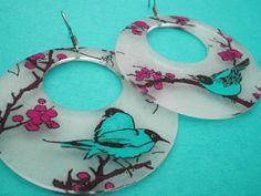 birds on a branch (aquamarine)