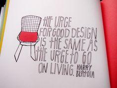 Helsinki Dragonfly quote design quotation lisa congdon illustration chair living