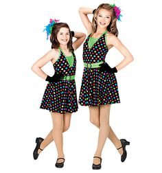 Bird Girls with Blue, Green, and Pink petticoat and tail Jump, Jive & Wail Adult Halter Dress - Style Number: TH5000 $21.63