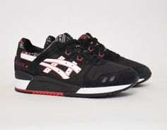#Asics Gel Lyte III Bandana Black #sneakers