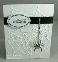 Halloween Card - like the embossing!