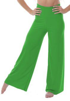 c84b07ca9c1ec Green High Waist Palazzo Dance Pants 200+ color Choices. Handmade in the  USA!