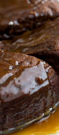 Warm Gingerbread Cake with a Caramel Sauce