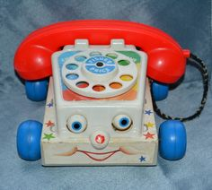 Vintage 1985 Fisher Price Toy Rotary Chatter Telephone