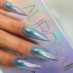 Best Stiletto Nails Designs, Ideas, Tips, For You – Long Nails – Long Nail Art Designs Hot Nails, Hair And Nails, Gorgeous Nails, Pretty Nails, Crome Nails, Stiletto Nail Art, Simple Stiletto Nails, Black Nails, Mirror Nails