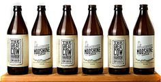The Great Cow Harbor Bootlegging Co. / Mooshine Lager by Matthew Becker, via Behance