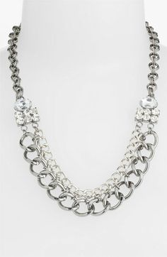 Stephan & Co. Chain & Rhinestone Statement Necklace available at #Nordstrom