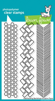 Interlocking Backdrops stamp set from Lawn Fawn - I spy arrows and hexagons!