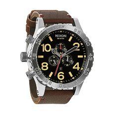 Часы Nixon 51-30 Chrono Leather Black/Brown