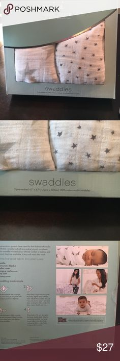 Aden and Anais cotton muslin swaddles star Printed 47x47 100% cotton muslin. New aden and anais Other