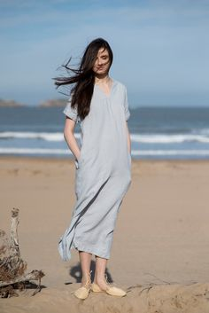 Vestido de lino Motumo  16S3 por MotumoLinen en Etsy