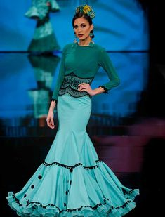 Cute Dresses, Beautiful Dresses, Formal Dresses, Flamenco Costume, Spanish Fashion, Turquoise, Western Wear, Pink Dress, Gowns