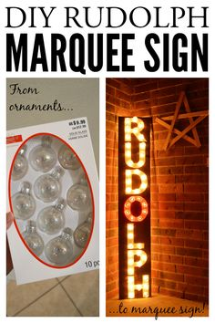 DIY Rudolph Marquee Sign- Monthly DIY Challenge {December} | Little Red Brick House
