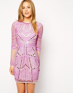 ASOS Embellished Mirror Bodycon Dress