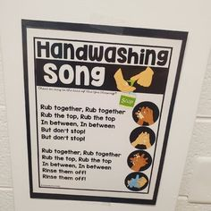Handwashing Song Chart Freebie by Practically Pre-K | TpT Teacher Hacks, Teacher Newsletter, Hand Washing, Classroom Management, Back To School, Singing, Chart, Songs