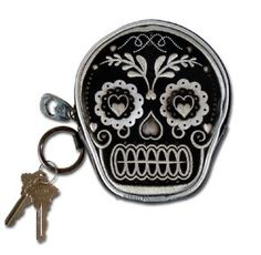 sugar skull coin purse- this is all i've carried as a purse/wallet for over a year & i could've sold hundreds...it's a great conversation starter & i love it.