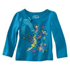 Disney Little Girls Fairies Toddler Girls Long Sleeve Shirt 3T ** You can find out more details at the link of the image. (This is an affiliate link) #BabyGirlTops
