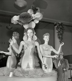 Lingerie display at Macy's department store, 1942